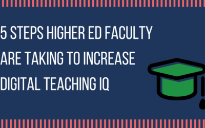 5 Steps Faculty are Taking to Increase Digital Teaching IQ